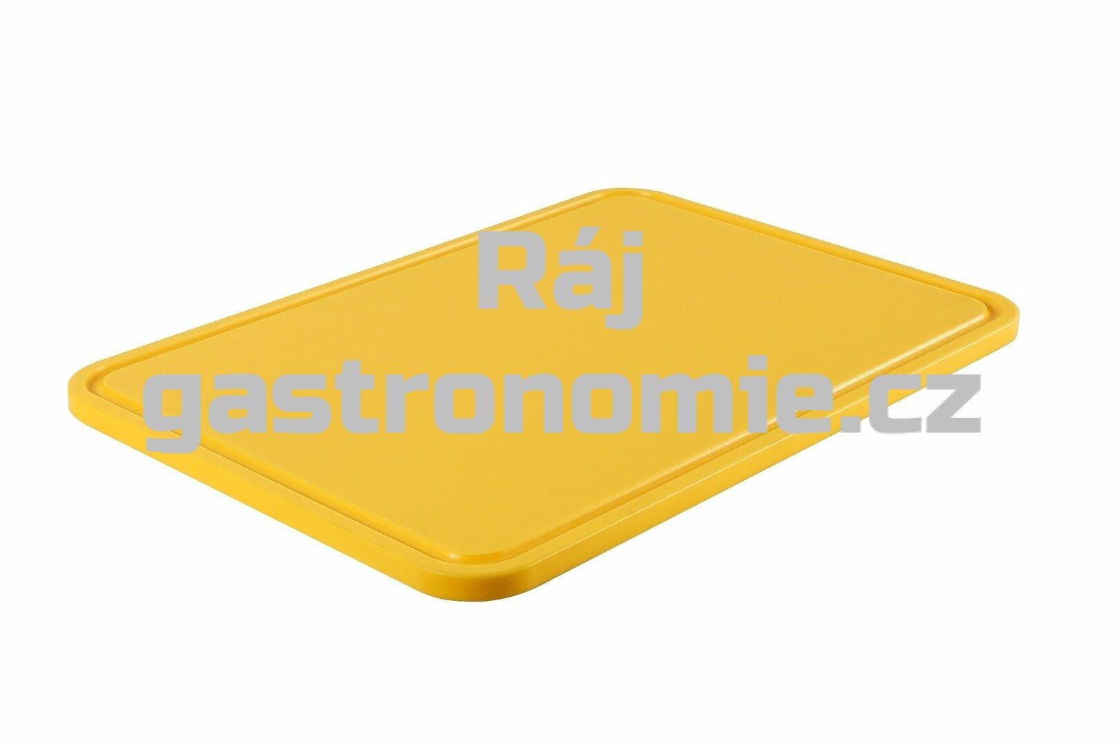 PE deska 440x290x15 - žlutá