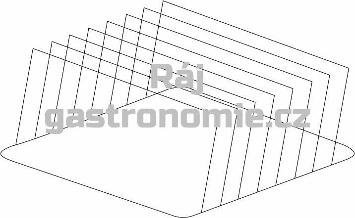 Držák plechů a podnosů nerez 300 x 465 x 210 mm (rozteč 48 mm)