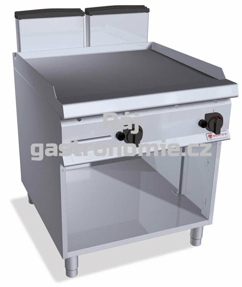 Grilovací hladká plotna Bertos SG9FL8M-2/CR
