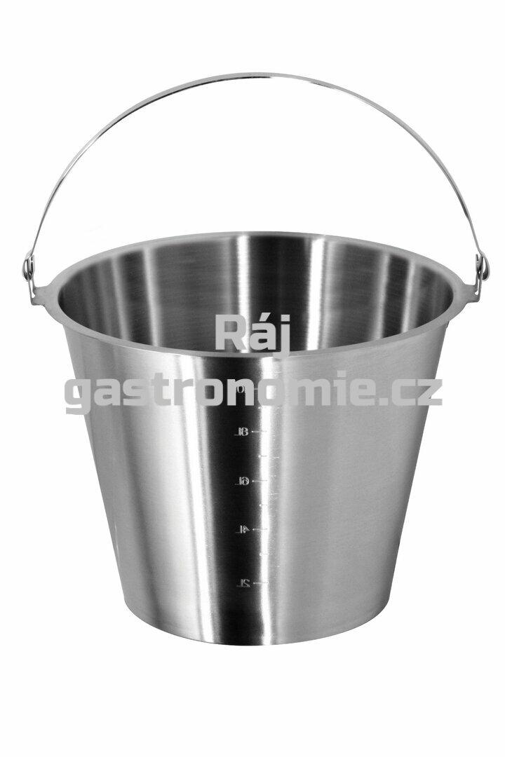 Vědro bez podstavy (Ø350 mm, 15 l) nerez ECO