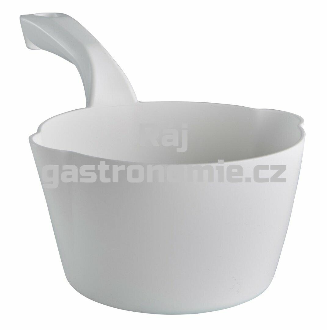 Naběračka oblá 1 litr - bílá