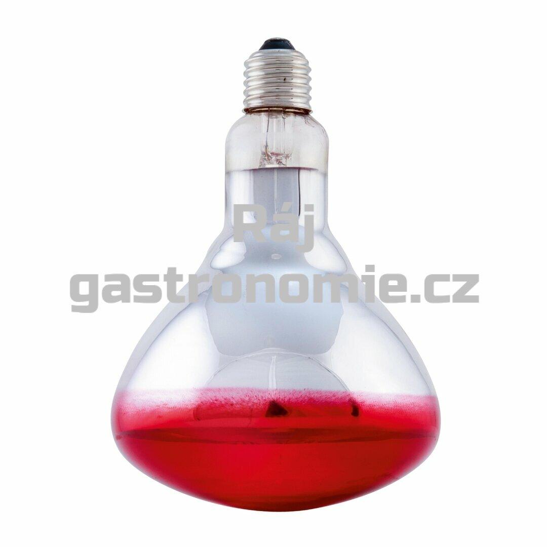 Infra žárovka - červená 250W