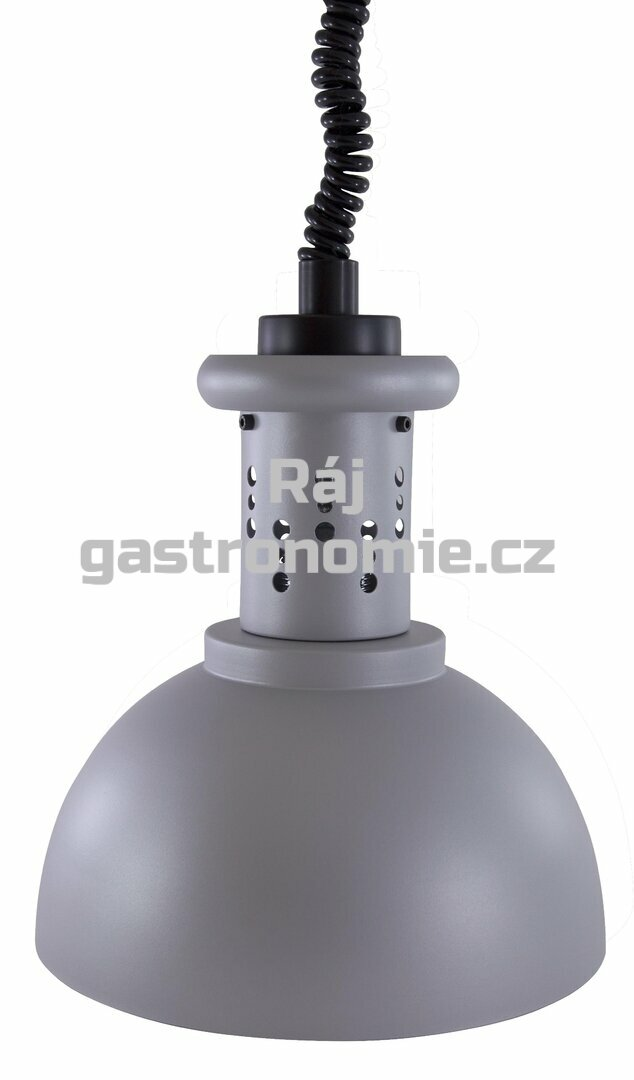 Lampa v provedení - stříbrno-šedá barva (⌀23) - bez žárovky