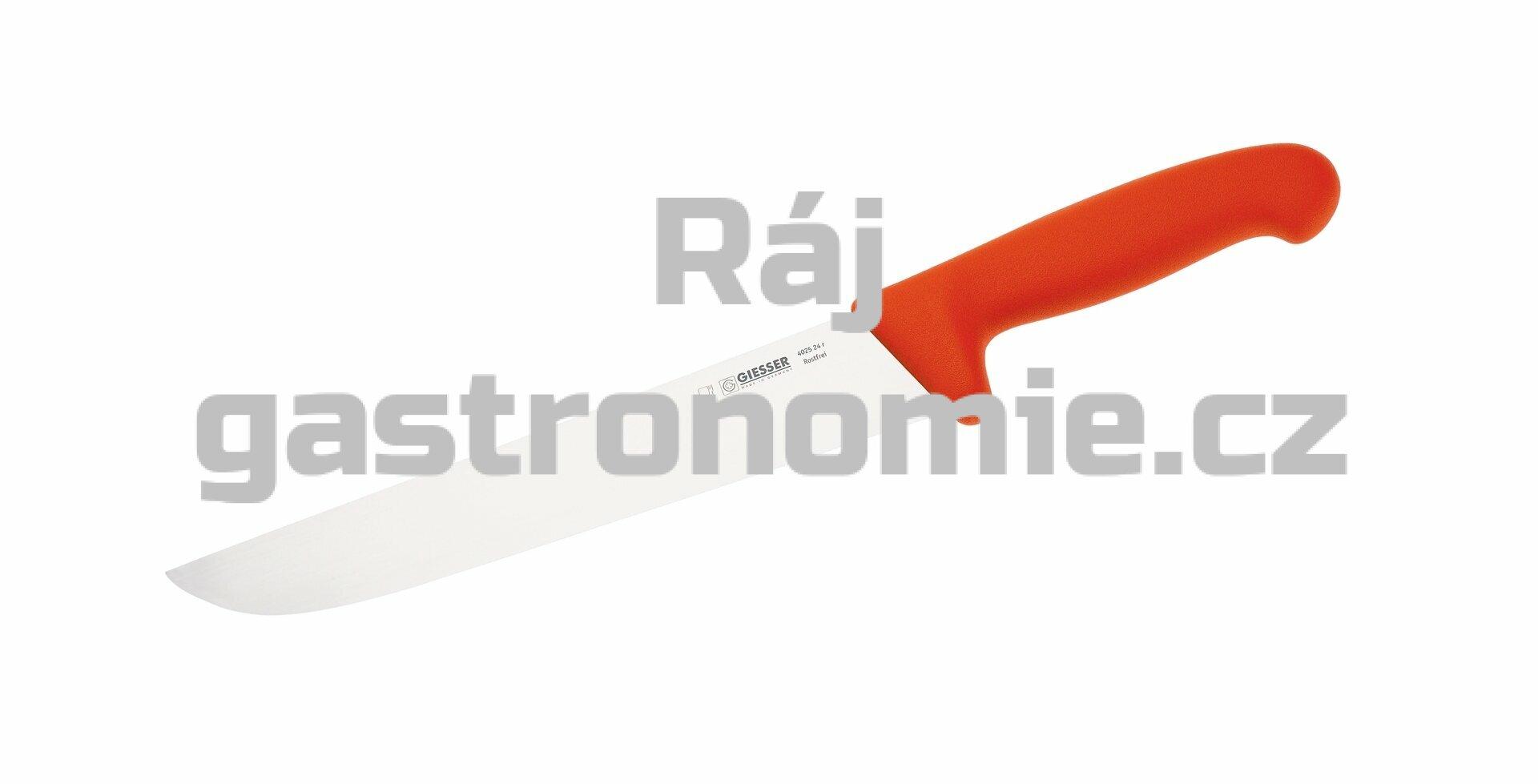 Nůž na maso 21 cm - červený