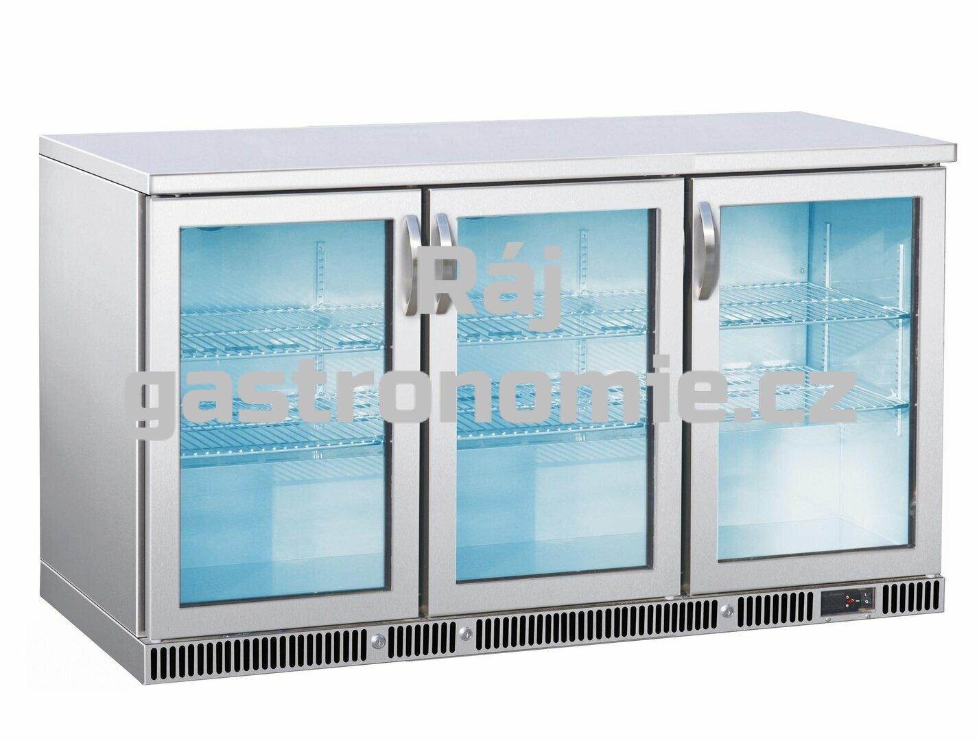 Nápojová vitrína nerez SGD-315-85 S/S