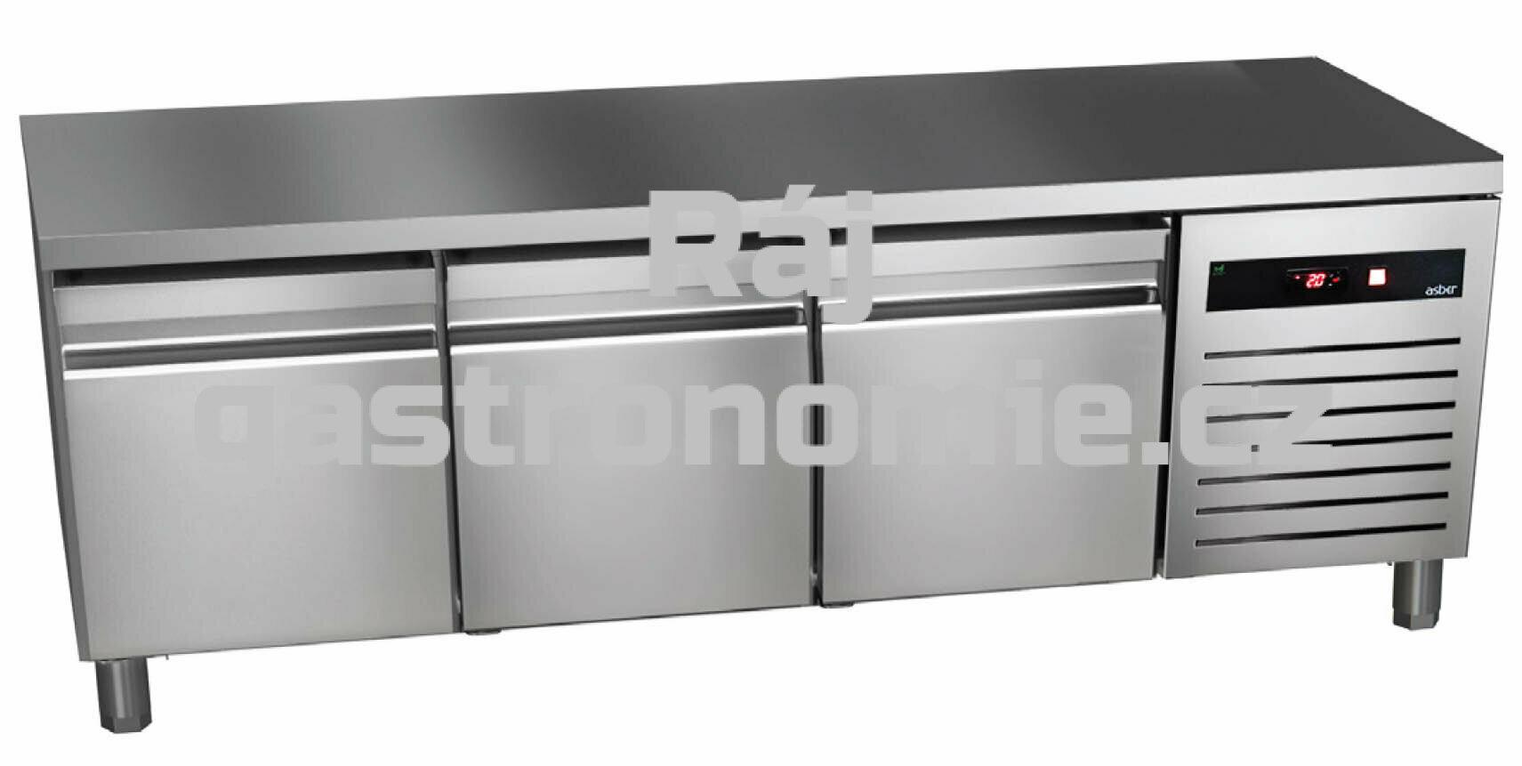 Chladící podestavba Asber GTPB-180-30 (3x dveře)
