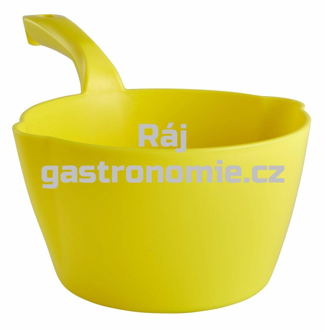 Naběračka oblá 2 litry - žlutá