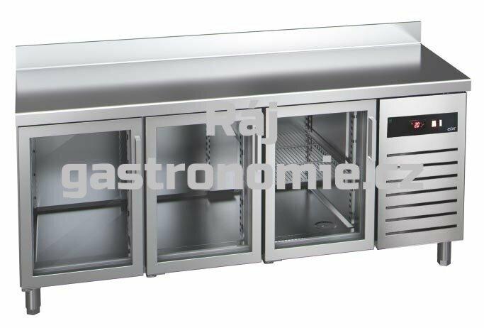 Chladící stůl GTP-7-180-30 glass - agregát vlevo + dřez
