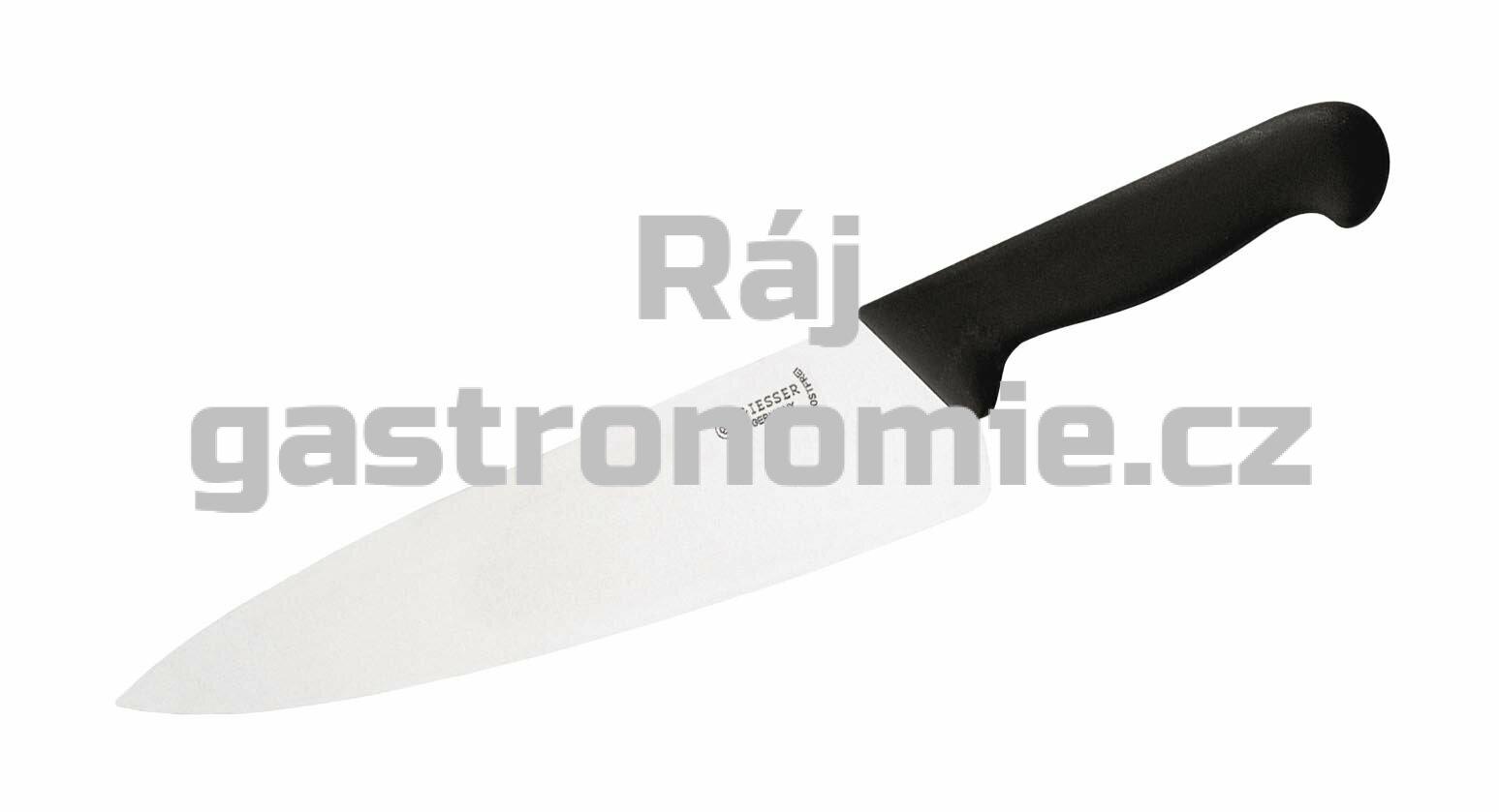 Nůž kuchařský 230 mm - černá