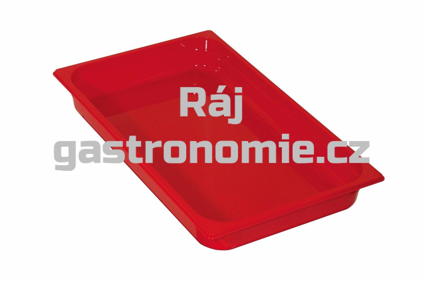 GN 1/1 (h=65 mm) polykarbonát červený