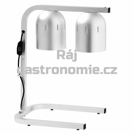 Infra lampa stolní - hliník