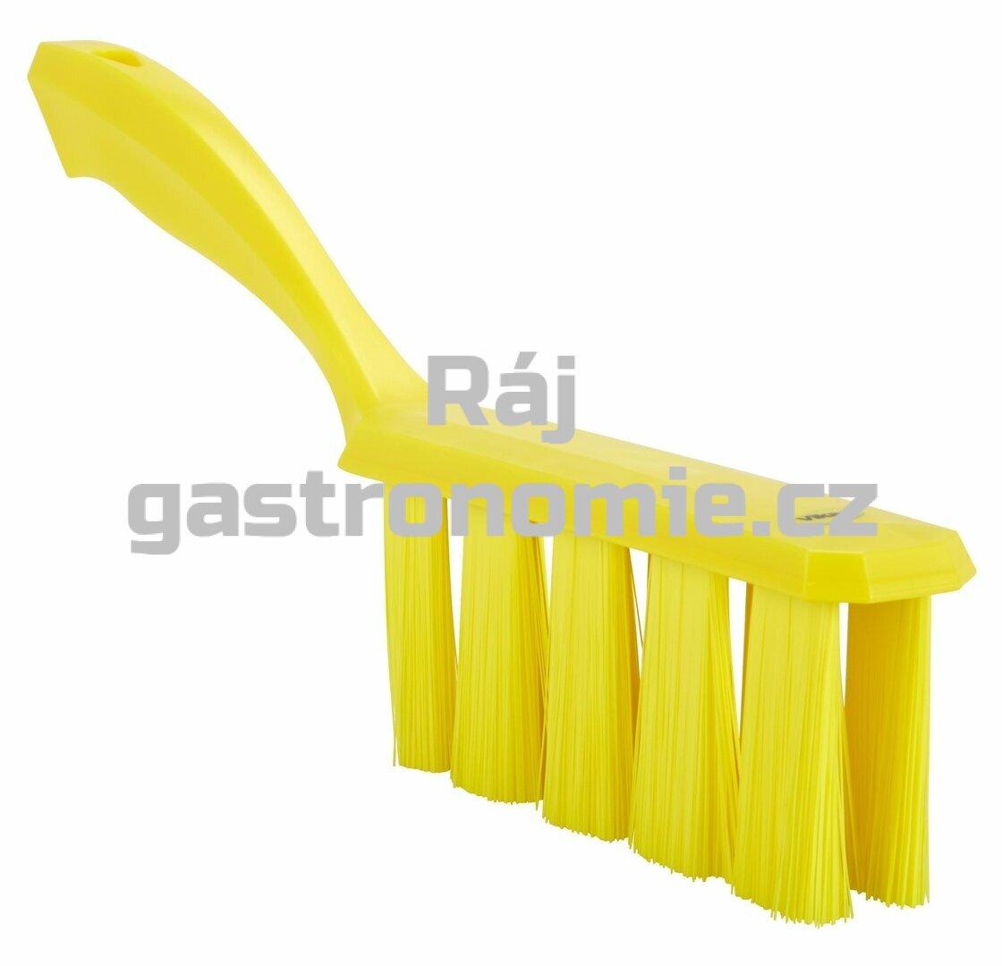 Smetáček s rukojetí UST měkký - žlutý