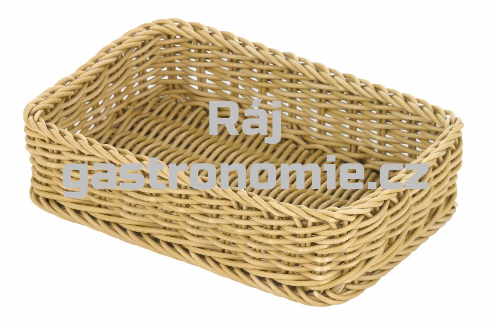Koš pletený GN 1/4 - světle béžový
