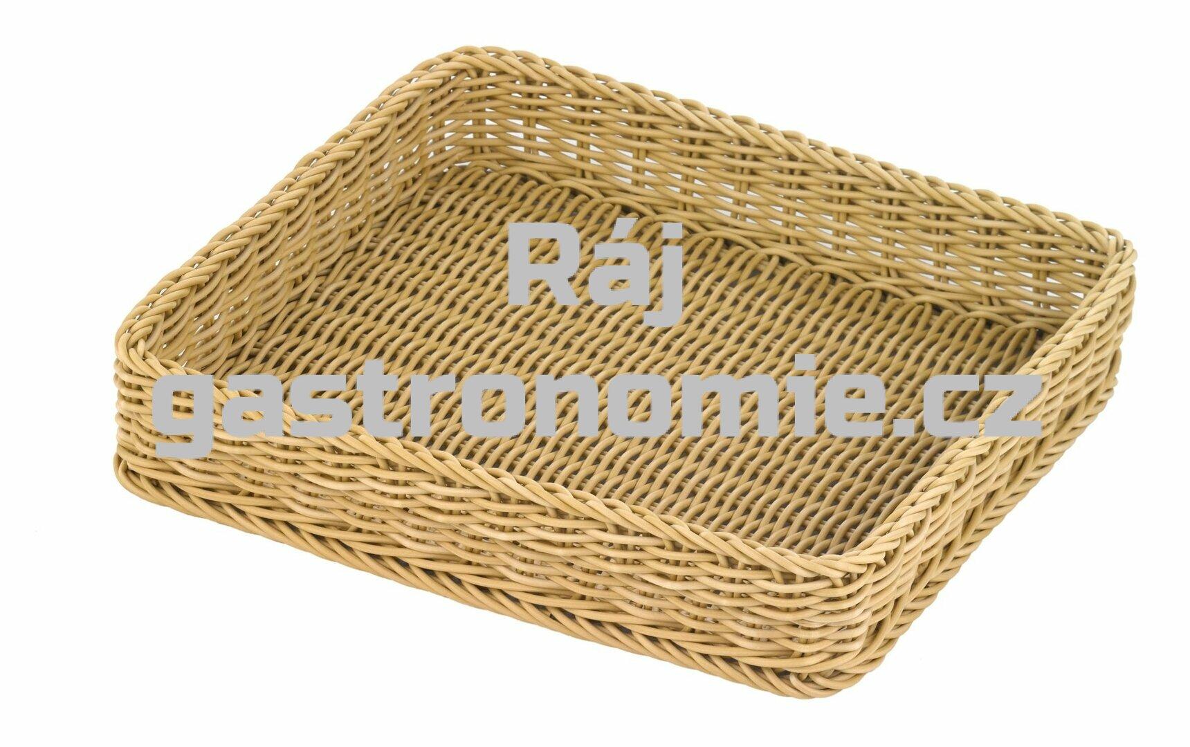 Koš pletený GN 2/3 - světle béžový