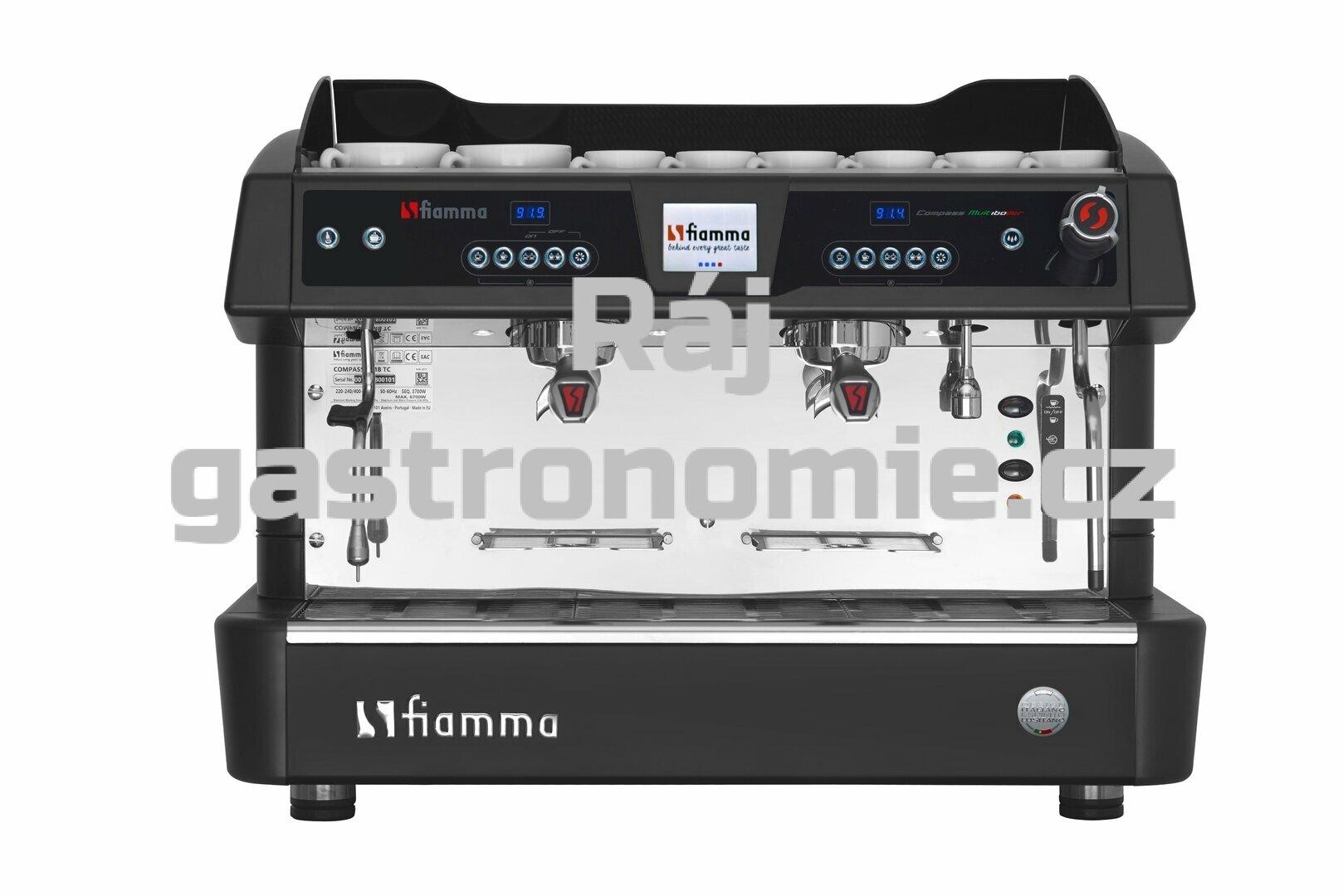 Dvoupákový kávovar COMPASS II MB TC černý