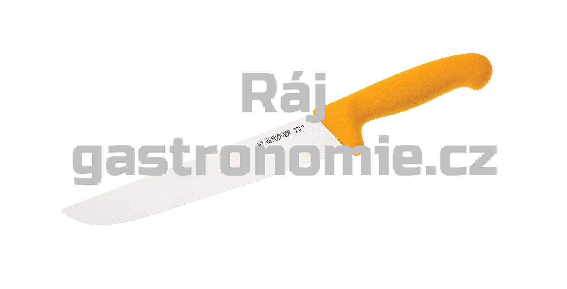 Nůž na maso 24 cm - žlutý