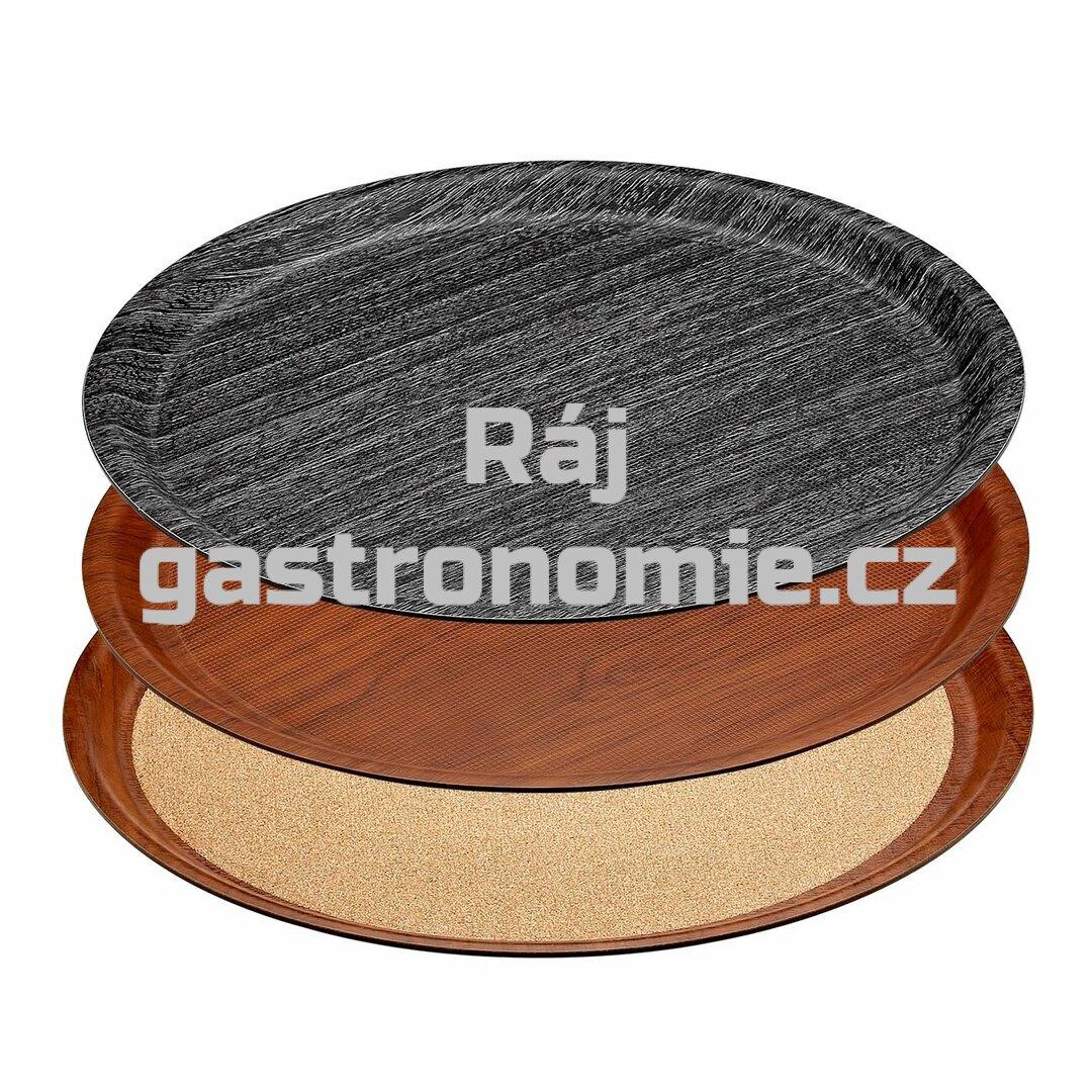 Tác kulatý protiskluz - dřevo a korek