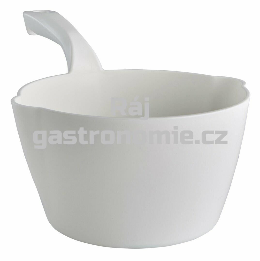 Naběračka oblá 2 litry - bílá