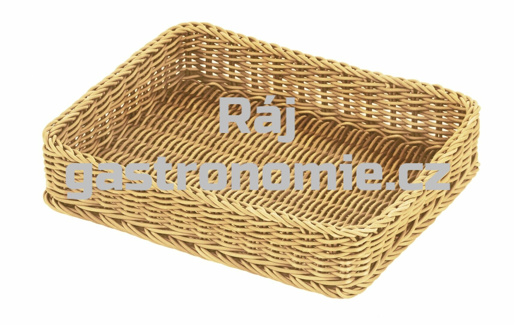 Koš pletený GN 1/2 - světle béžový