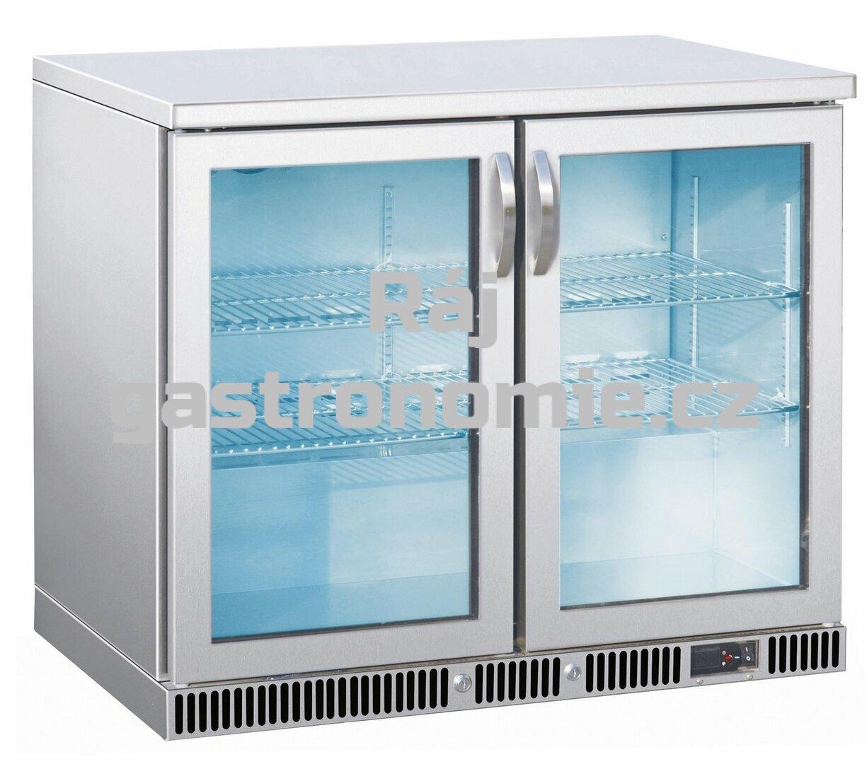 Nápojová vitrína nerez SGD-250-85 S/S
