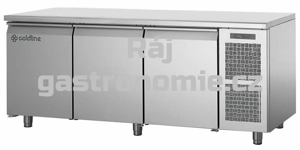 Mrazící stůl TP17/1B s deskou bez zadního lemu
