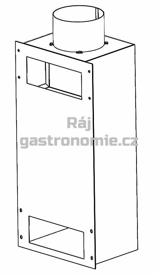 Propojení komínů více komor pecí GAS