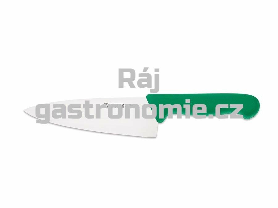 Nůž kuchařský 200 mm - zelený