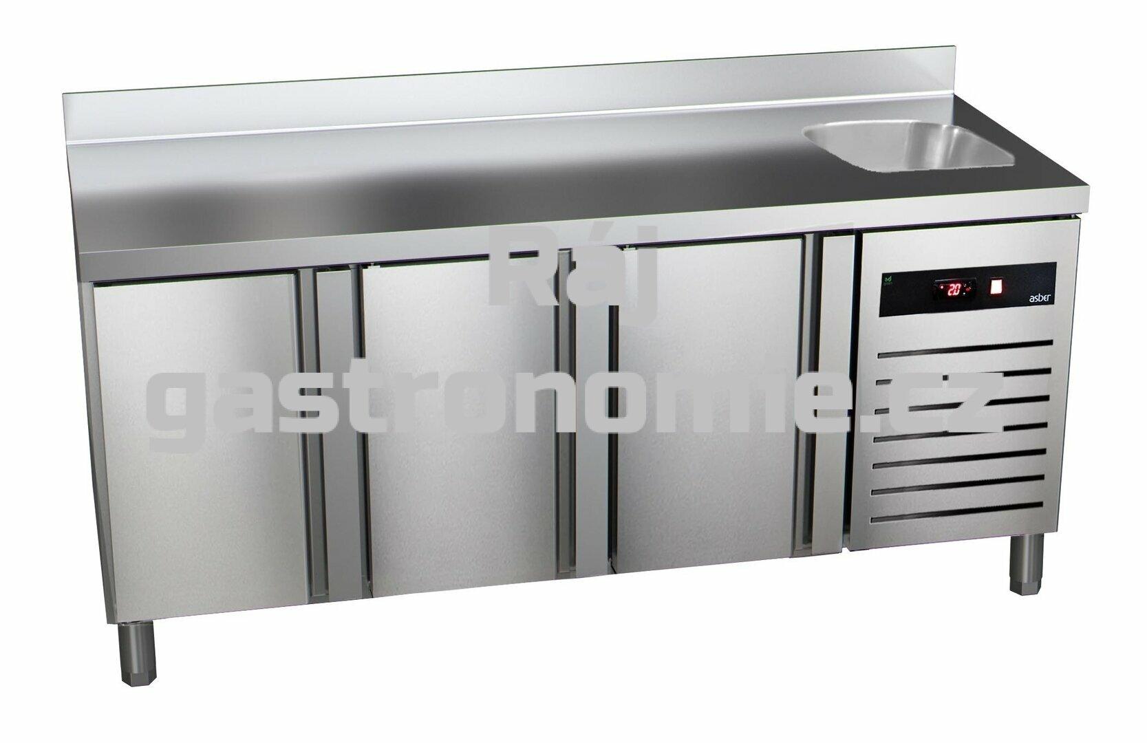 Chladící stůl GTP-7-180-30 - agregát vlevo + dřez