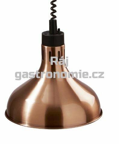 Infra lampa závěsná - meď