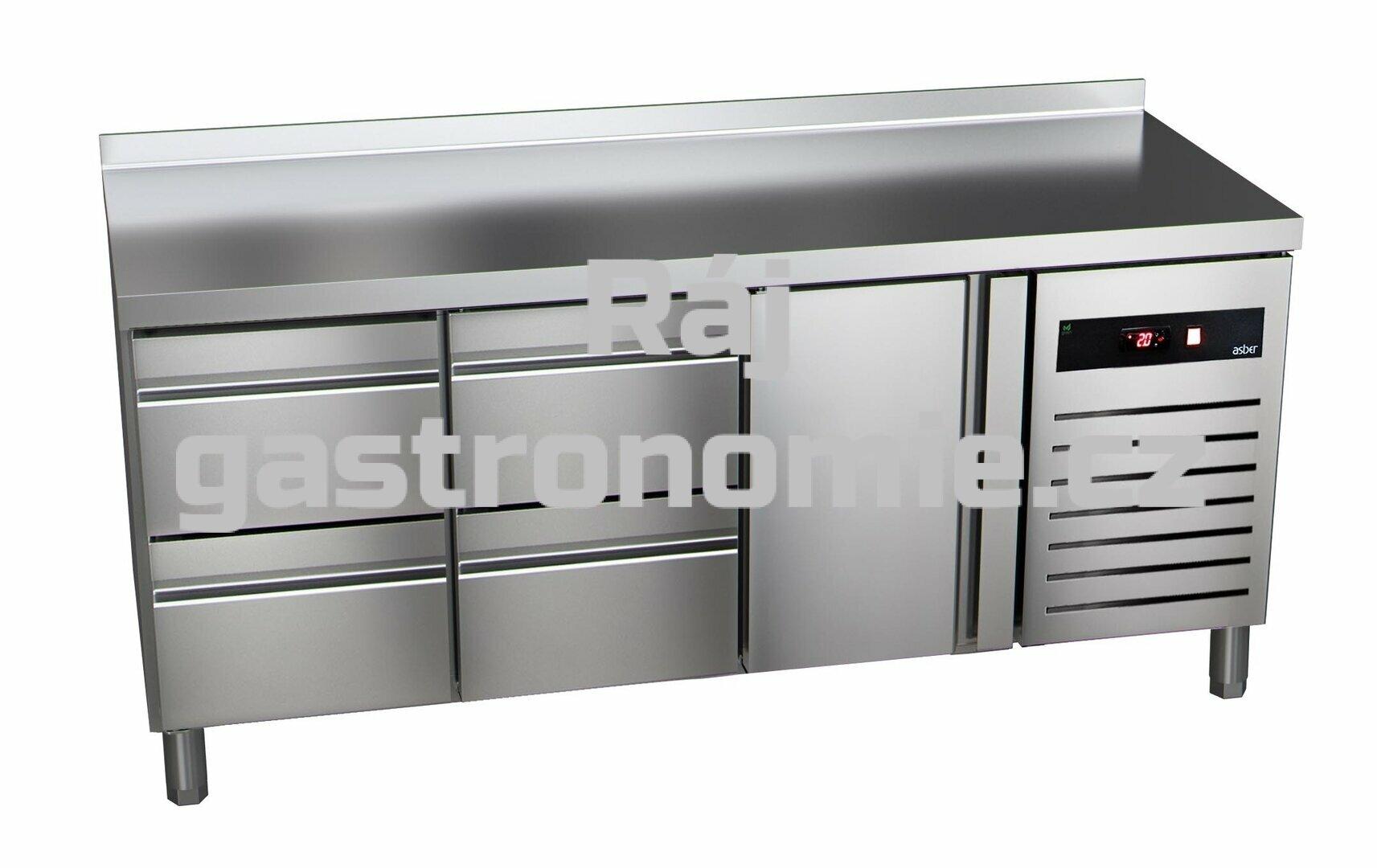 Chladící stůl GTP-7-180-14 - agregát vpravo + dřez