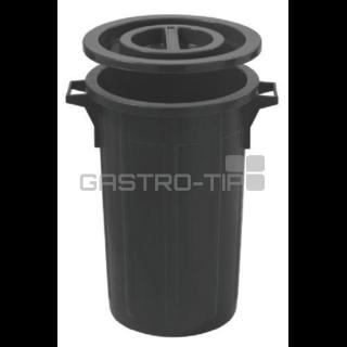 Koš na odpad s víkem 60 litrů - černá