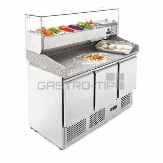 Pizza chladící stůl MPS-1365 s chl.vitrínou