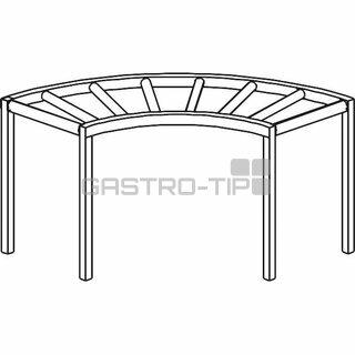Stůl válečkový oblouk 90° 1300 x 1300 x 850 mm